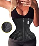 Gotoly Girdle After Giving Birth Weight Loss Waist Trainer Long Torso (XL, Black(Zipper With Hook))