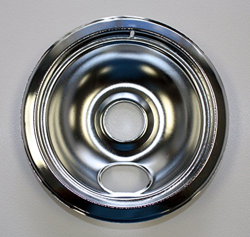 Universal Chrome Drip Pan  Style A  6    6  Single Pack  Fits All Ranges With Plug In Elements Except Ge R   Hotpoint R    Kenmore R