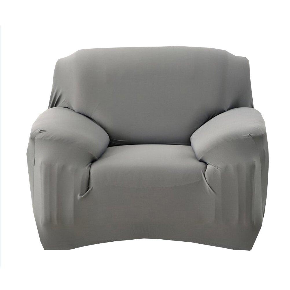 WINOMO Fodera per divano Poltrona Poliestere t-cuscino Sedia Slipcover Sedia a slitta in pelle (Grigio)