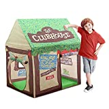 Swehouse Clubhouse Kids Play Tents for Boys School Toys for Indoor and Outdoor Games Children Playhouse with Roll-up Door and Windows (Green)