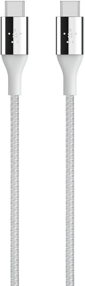 Belkin MIXIT DuraTek Kevlar USB-C (USB Type C) to USB-C Cable, 4 Feet (Silver)