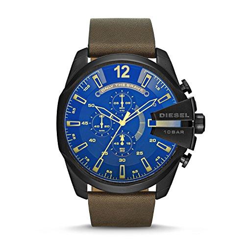 Diesel Men's Mega Chief Brown Leather Watch DZ4401