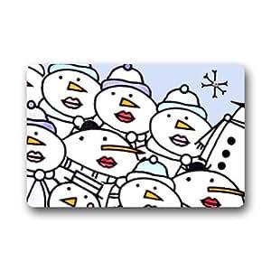 """Secado rápido puerta Mat–personalizar con muñecos de nieve doormat-23.6""""(L) x15.7(W) 3/16"""""""