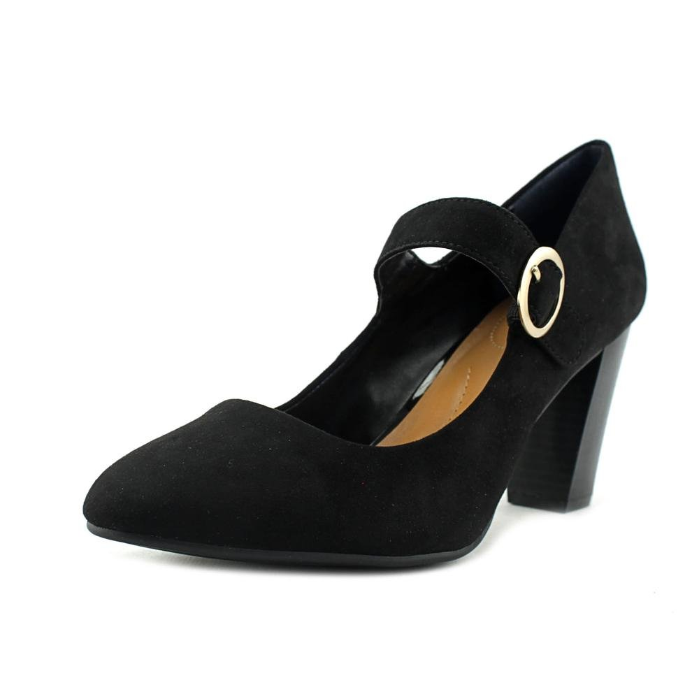 Style & Co. Womens Alabina Suede Closed Toe Ankle Strap Mary Pumps Shoes Black Size 7.5