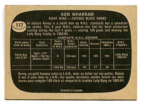 Topps 1966/67 Ken Wharram Card #117 Chicago Black - 67 Ken