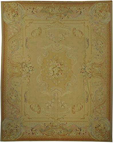 (8x10 Honey Fine Quality Traditional Authentic Hand-Woven Aubusson)