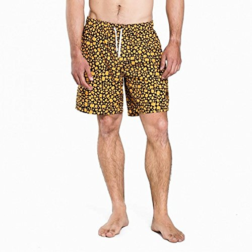 trendsplant Herde Short Boardshort Navy Yellow–L