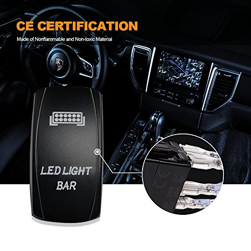T-Former 3 LEAD LED Light Bar Wiring Harness Kit Fuse 40A Relay On-off Rocker Switch Waterproof for Driving Light Fog Light Work Light Arctic Cat Wildcat Can Am Polaris RZR S 900 1000