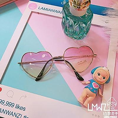 LXKMTYJ La mode créative et acajou antique belle personnalité aimante frais d'été dégradé transparent lunettes de soleil Lunettes de soleil, le jaune de toner