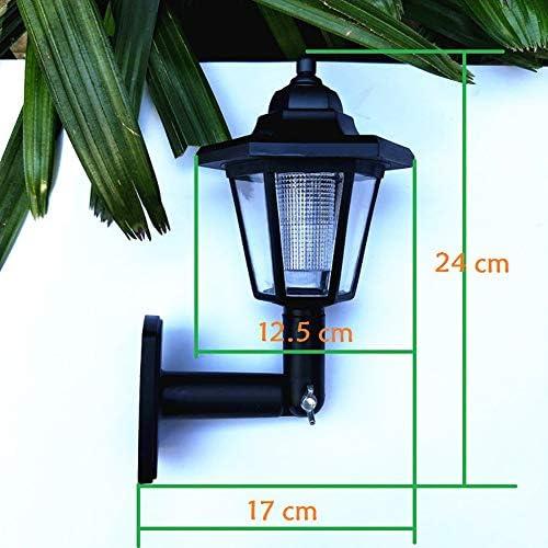 LCYZ Solarlampen für Außen,Solar Wandlaterne Licht,Wandleuchte Wasserdicht für Gartenzaun Hof Landschaft, Cool White (4er Pack)