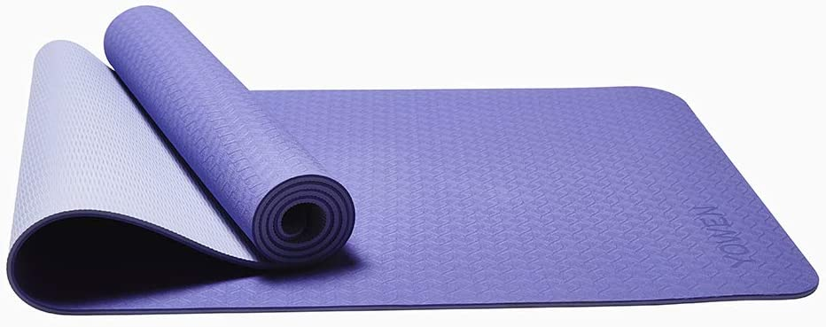 Umweltfreundliche Und Leichte Fitness Trainingsmatte,Blau Yogamatten Rutschfeste Naturkautschuk-Yogamatte Fodable Travel Yoga Matte F/ür M/änner Und Frauen