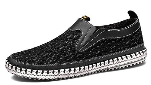 MOHEM Männer Poseidon Slip-On Loafers Wasser Schuhe Casual Wanderschuhe 3177-2black