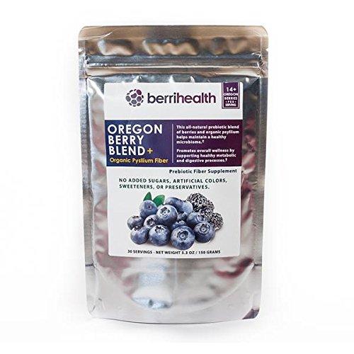 Oregon Berry Blend+ – All-Natural Oregon Berries with Organic Fiber – Prebiotic Powder – 30 Servings