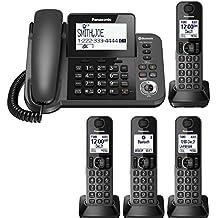 Panasonic KX-TGF383M Plus one KX-TGFA30M handset DECT 6.0 Plus Corded/Cordless 4-Handset Landline Telephone System (KX-TGF383M+1, KX-TGF382M+2, KX-TGF380M+3) (Renewed)
