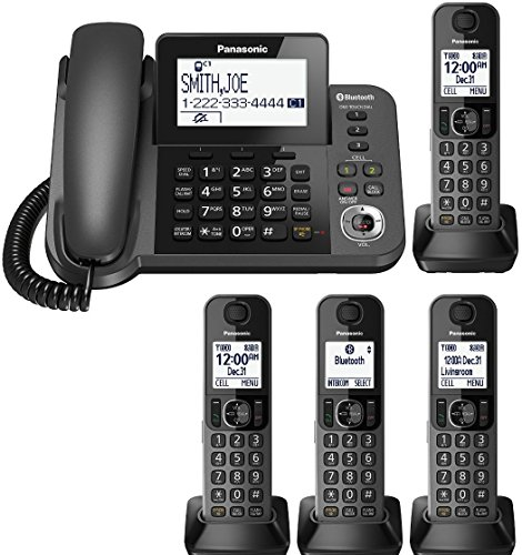 Panasonic KX-TGF383M plus one KX-TGFA30M handset DECT 6.0 Plus Corded / Cordless 4-Handset Landline Telephone System (KX-TGF383M+1, KX-TGF382M+2, KX-TGF380M+3) (Certified Refurbished) (6.0 One Handset Dect)