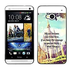For HTC One M7,S-type® Fairytale Fantasy Kids Children'S Text - Arte & diseño plástico duro Fundas Cover Cubre Hard Case Cover