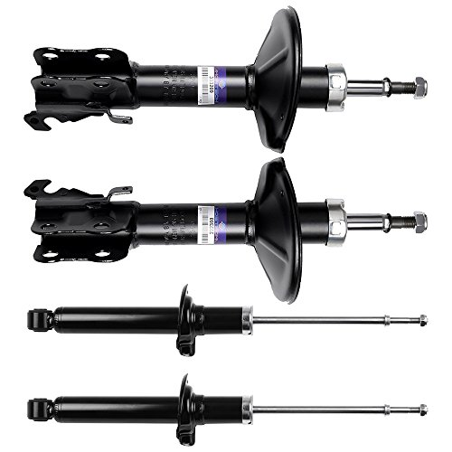 SCITOO Shocks, Front Rear Gas Struts Shock Absorbers fit 1995 1996 1997 Toyota Paseo,1995 1996 1997 1998 Toyota Tercel 333209 71654 333210 71655 341191 71297 Set of 4 ()
