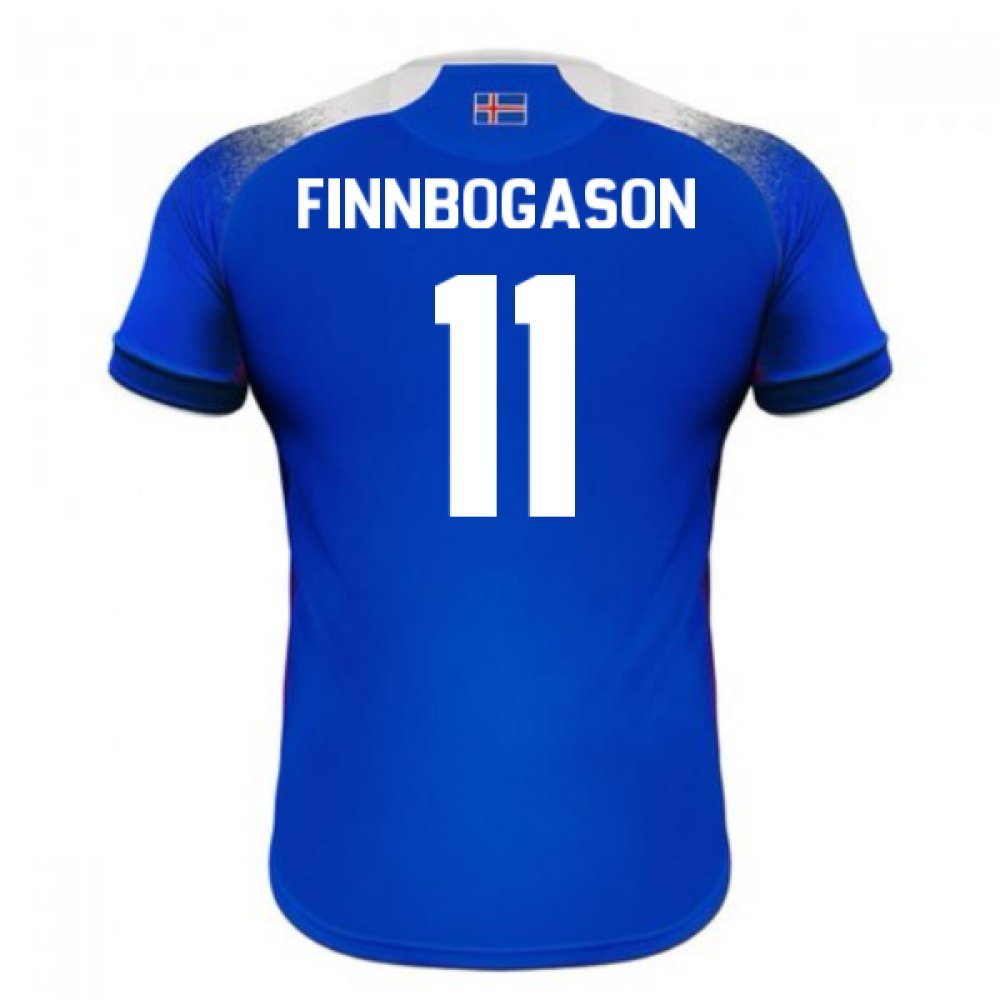 2018-2019 Iceland Home Errea Football Soccer T-Shirt Trikot (AlfROT Finnbogason 11)