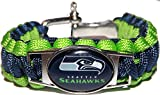 GeauxDat Collectibles American Football Team Bracelets - Military Grade Paracord (Seahawks)