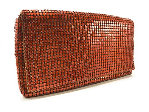 (Womens Evening Clutch Metal Mesh purses handbags with shoulder strap for Coctail Party Prom Wedding)