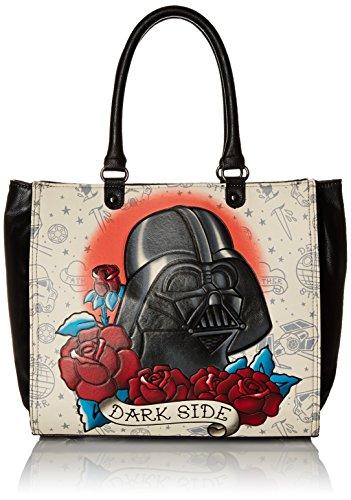 Loungefly Star Wars Darth Vader Tattoo Tote Shoulder Bag, Multi, One Size (Darth Vader Purse)