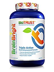 Biotrust Brain Bright Brain Booster Supplement, 60 Tablets (3-pack)