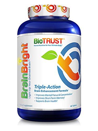 BioTrust Brain Bright Brain Booster Supplement, 60 tablets (3-pack) by BioTrust