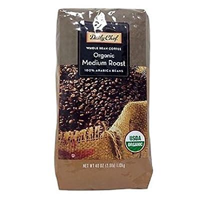 Daily Chef Organic Medium Roast Whole Bean (40 oz.) Pack of 2