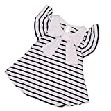 Pure Cotton Shirtdress For Toddler Baby Girls 6~12 Months Infants Gilrs Striped Dress Outfits(Navy,70)