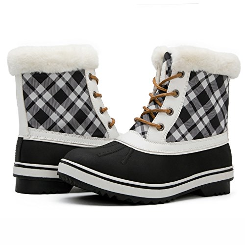 Win Snow Black Women's Grey Boots 1632 White Global GLOBALWIN 1727black FxnFd