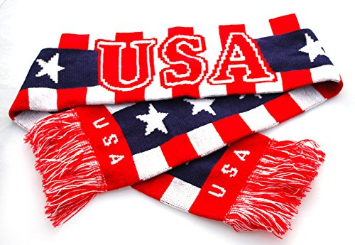 USA Reversible Unisex Patriotic Olympic Soccer Scarf