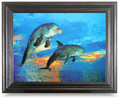 DOLPHINS AT SEA Optical Illusions-HOLOGRAM 3D IMAGERY-LENTICULAR ART