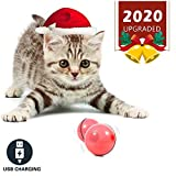 Y YOFUN YOFUN Smart Interactive Cat Toy - Newest Version 360 Degree Self Rotating Ball USB Rechargeable Pet Toy Build-in Spinning Led Light Stimulate Hunting Instinct for Your Kitty
