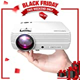 """Office Products : Mini Projector, DBPOWER Portable Projector 176"""" Display 50,000 Hours LED Full HD 1080P Projector, Compatible with iPhone, ipad,AV, USB, SD, Amazon Fire TV Stick"""