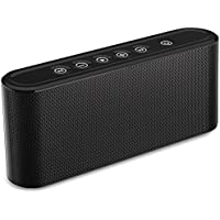 Evetebol Bluetooth Speakers, 6W Touch Speakers, Bluetooth V4.2 Wireless Speaker with Super Bass, Treble, Surround Sound, Noise Reduction Microphone - Support TF Card, USB Disk, 3.5mm AUX Input