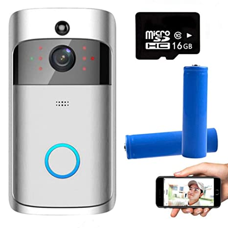 Smart Video Doorbell Wireless Anti-Theft Cámara ...