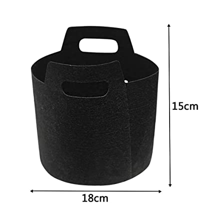 f4b856d36925 Amazon.com : Birdfly Garden Round Fabric Pots Root Container Grow Bag Plant  Pouch Aeration Container L : Garden & Outdoor