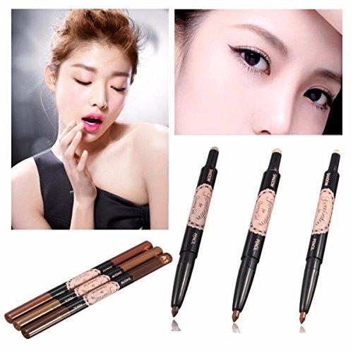 LuckyFine Doppelzweck dauerhaften natürlichen gel - eyeliner augenbraue pulver wasserfeste make - up stift A2