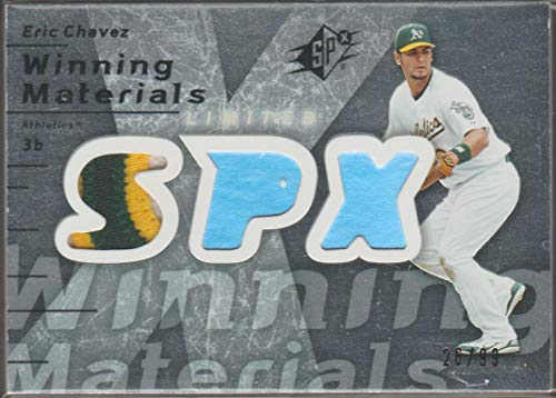 2007 SPx Eric Chavez A's 26/99 Game Used Jersey Baseball Card #WM-EC