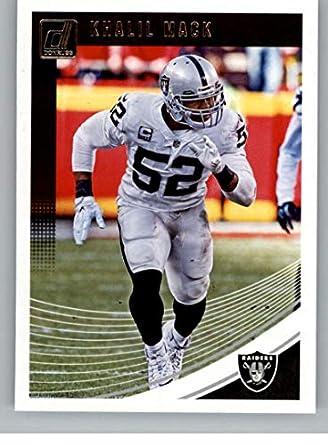 a8cd4279cd0 2018 Donruss Football #221 Khalil Mack Oakland Raiders Official NFL Trading  Card