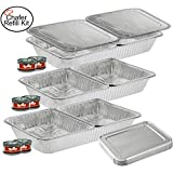 TigerChef TC-20520 Chafer Pans Set, Includes 3 Full Size Aluminum Steam Table Pans, 6 Half Size Aluminum Foil Pans with 6 Lids and 6 Gel Fuel Cans