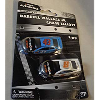 NASCAR Authentics Darrell Wallace Jr and Chase Elliott Two-Pack 1:87 2019 Wave 3 Diecast