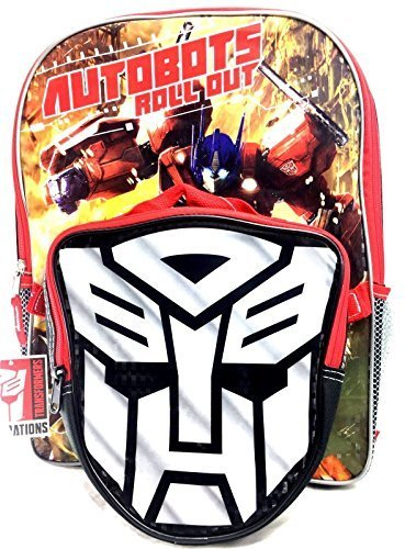 2017 Transformers Large Backpack with Detachable Insulated Lunch Bag -Bumble - Insulated Transformers Lunch