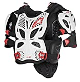 Alpinestars 6700517-213-XL2 Unisex-Adult A-10 Full Chest Protector White/Black/Red Xl/2X (Multi, one_size)