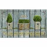 Masterpiece French Garden Topiaries Grey Door Mat, 18-Inch by 30-Inch