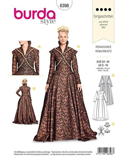 7da6a5f0 Burda Style Sewing Pattern B6398 - Misses' Renaissance Dress, A(8-10