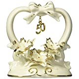 """ATD 30711 4.5"""" Orchid Flower Design 50Th Anniversary Cake Topper"""