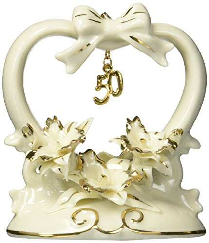 (Appletree Design 50th Anniversary Orchid Cake Topper, 4-1/2-Inch Tall)