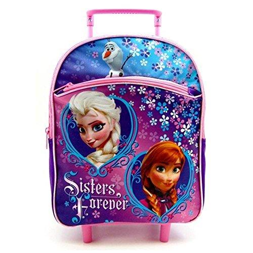 "4everStore 12"" Disney Frozen Elsa Anna Olaf Rolling Backpack"