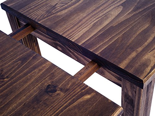 Brazilfurniture Dining Table Extensions Rio, Extendable Expandable 19.7 x 31.5 Oak Antique Solid Pine Wood Oiled, Coffee Modern Wooden Office Conference Desk Kitchen Living Room